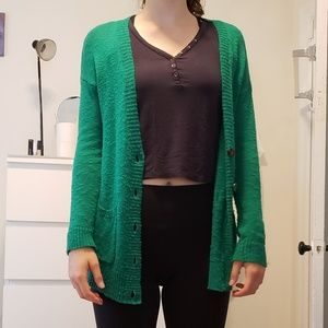 Abercrombie and Fitch Green Cardigan